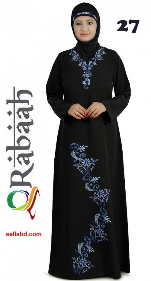 Fashionable muslim dress islamic clothing Rabaah Abaya Burka borka 27