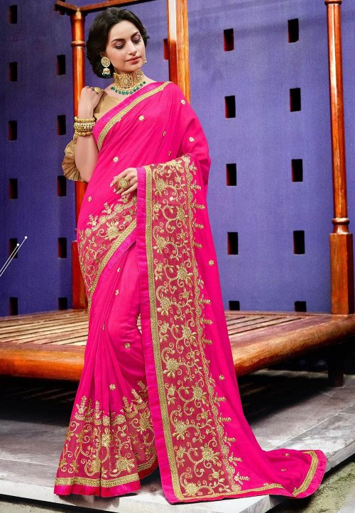 Weight Less Georgette saree Hp-74