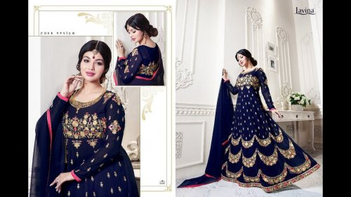 GEORGETTE WITH EMBROIDERY WORK FLOOR LENGTH ANARKALI SALWAR SUIT ayesha 016
