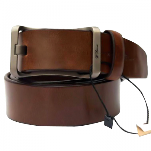 WISE DAWEI Brown Leather Belt