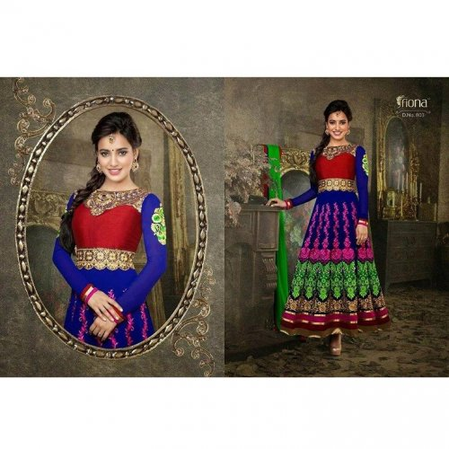 Neha Sharma Party Wear Anarkali Suit GRAUN 77D