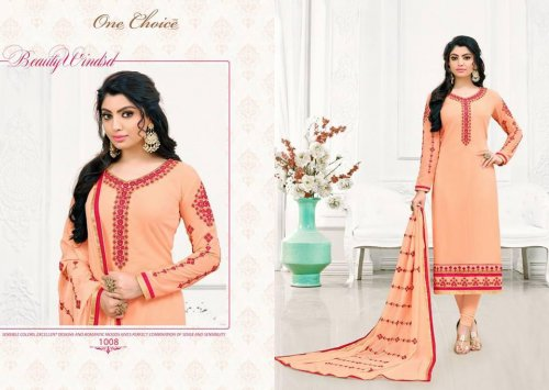 Divine Peach Colored Georgette r Salwar Suit