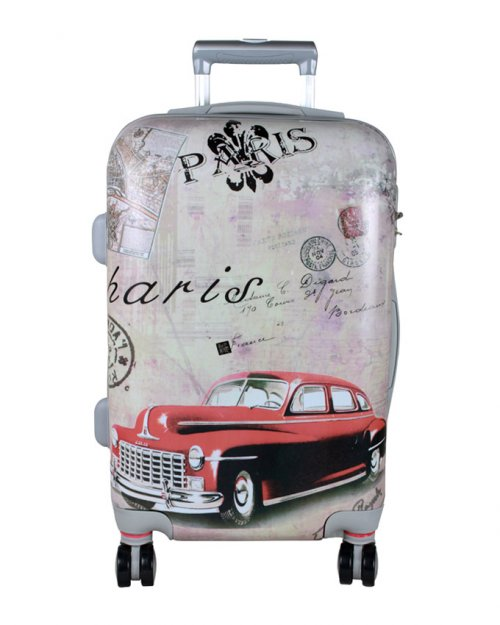 "PARIS ROLLING SPINNER WHEELS SCRAWL TROLLEY SUITCASE LUGGAGE 24"" & 20"""