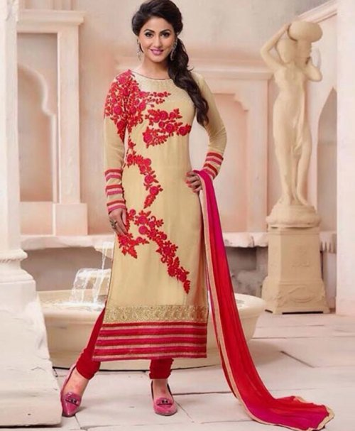 Unstitched Cotton Block Printed Salowar Kameez seblock-327