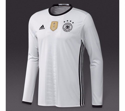 Germany Euro 2016 Home Men Long Sleeve Soccer Jersey