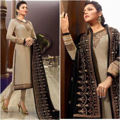 Exclusive Designer Georgette Embroidered Party Wear Salwar Kameez