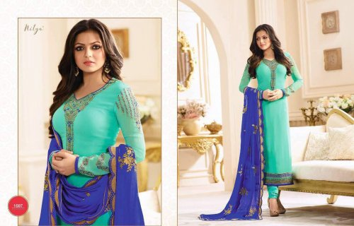 georgette with embroidery work salwar kameez suit