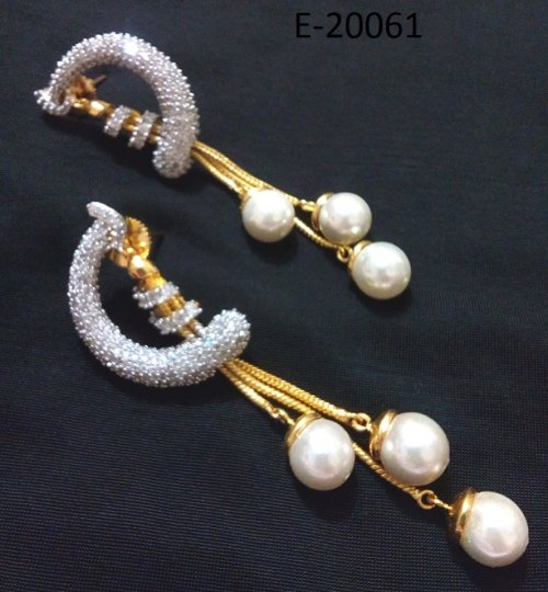 Gold Plated jewelry ornaments Diamond Cut Earrings E-20061