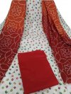 Latest Designed white and maroon, High Quality Cotton Salwar Kameez for Women