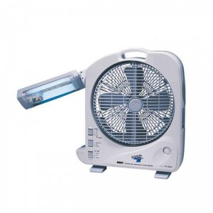 "Sunca 12"" Dual Battery Rechargeable Fan With Light Sf-292A"