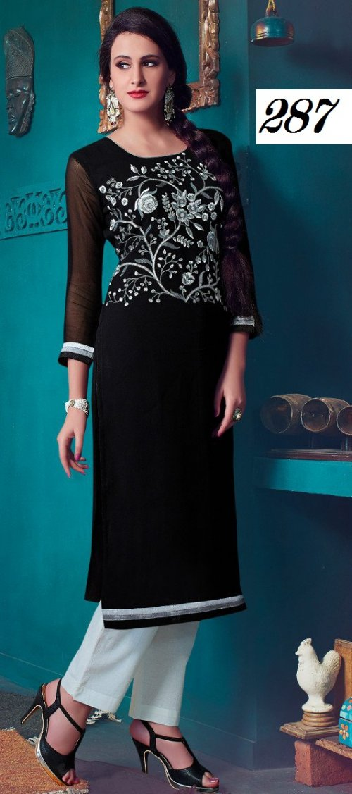 Latest Designers Kurti party wear ladies salwar suits 287