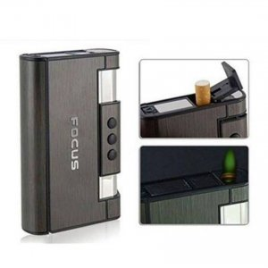 Focus Cigarette Case Lighter