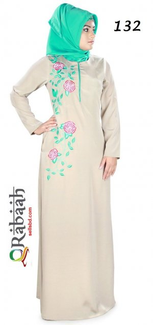 Fashionable muslim dress islamic clothing Rabaah Abaya Burka borka 132