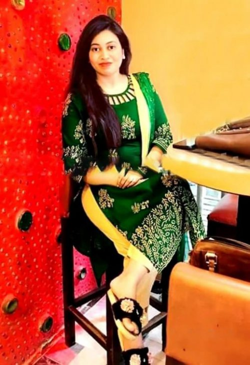 Latest Green And Off White Block Printed Salwar Kameez For Women-free size