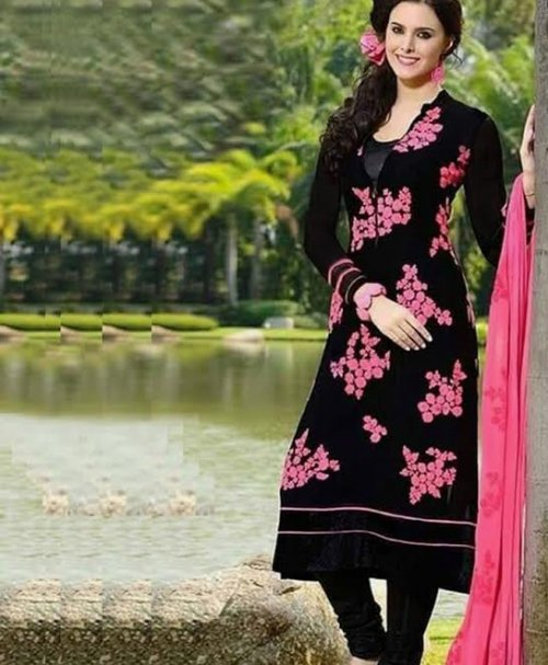 Unstitched Cotton Block Printed Salowar Kameez seblock-324