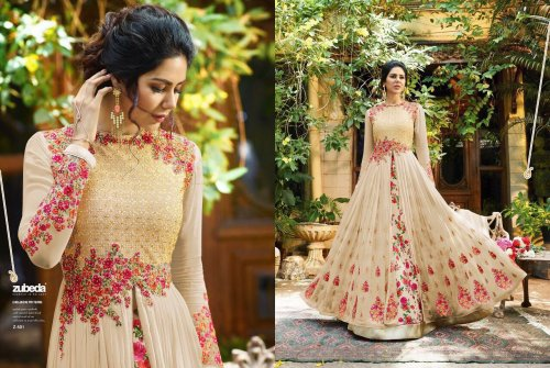georgette with Embroidery Floor Length Designer salwar suit zubeda 040