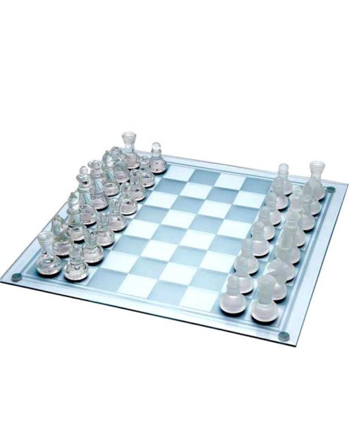The Pearl Glass Chess Board Set