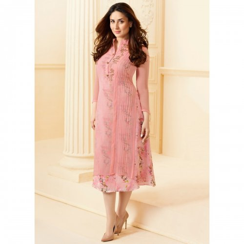 Double Layered Kurti in pink KURTI-33816