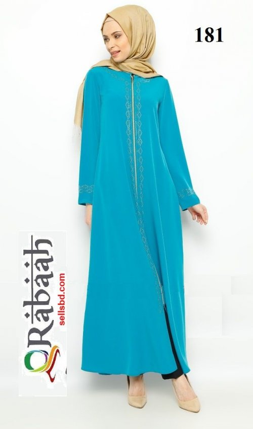 Fashionable muslim dress islamic clothing Rabaah Abaya Burka borka 181
