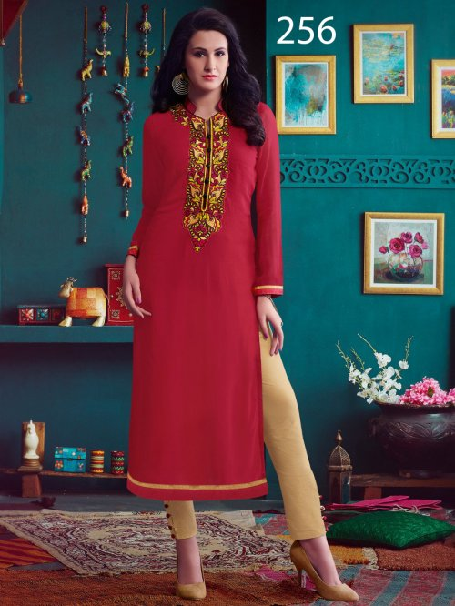 Kurti Latest Designers Kurti party wear ladies salwar suits 256