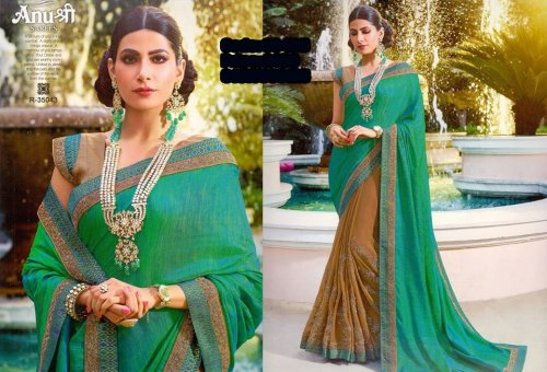Georgette and embroidery work saree ssc-725