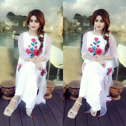 White salwar kameez for woman