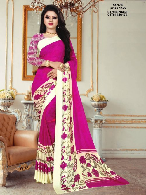 Indian Soft Georgette Saree se-178