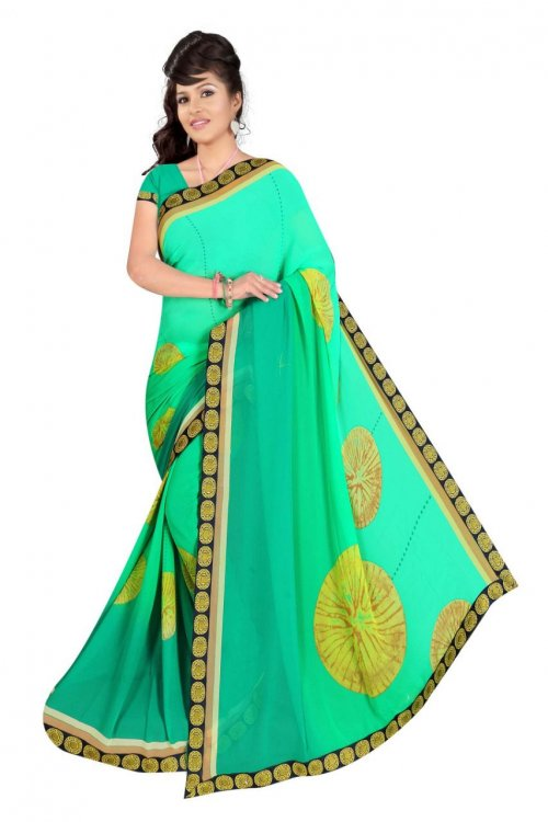 Indian Paste Georgette Printed saree For women