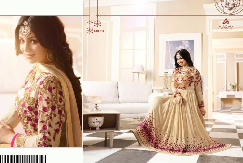 un-stitched georgette with embroidery anarkali salwar kameez