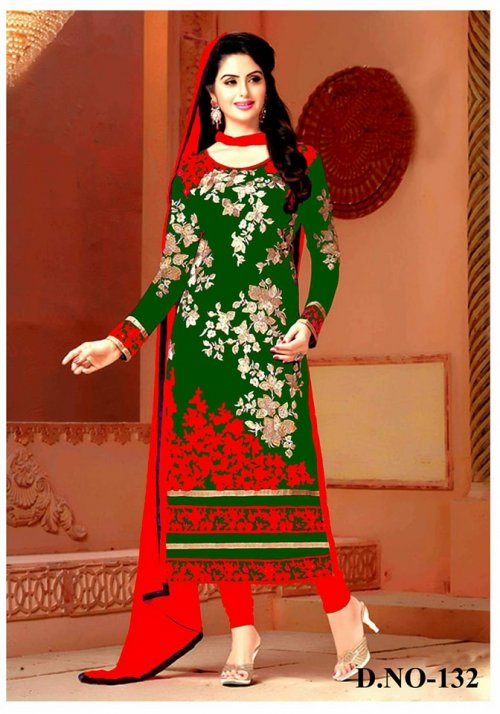 Unstitched Cotton Block Printed Salwar Kameez seblock-132