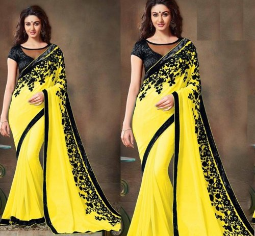 Weight Less Georgette saree SS-388