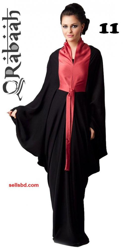 Fashionable muslim dress islamic clothing Rabaah Abaya Burka borka 11