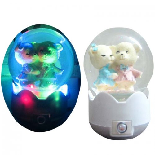 Pack of 2 Pieces Water Glitter Night Light