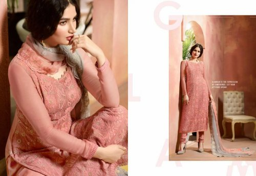 Semi-stitched Salwar Kameez Suit for woman