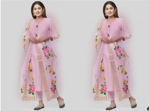 Fashionable Weeding Unstitched Three Piece Collection soft Georgette Embroidery Salwar Kameez Party
