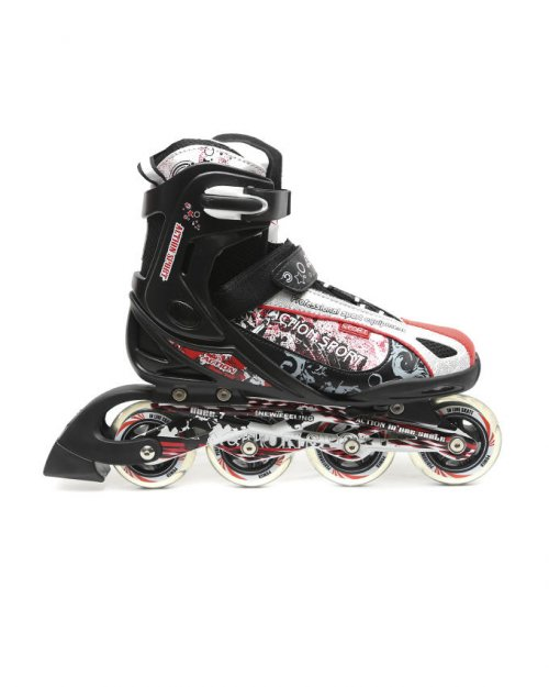 Action Inline Skates - Black red