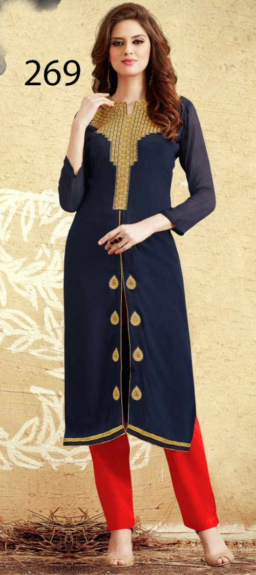 Latest Designers Kurti party wear ladies salwar suits 269