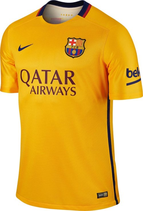 FC Barcelona Away Jersey Yellow