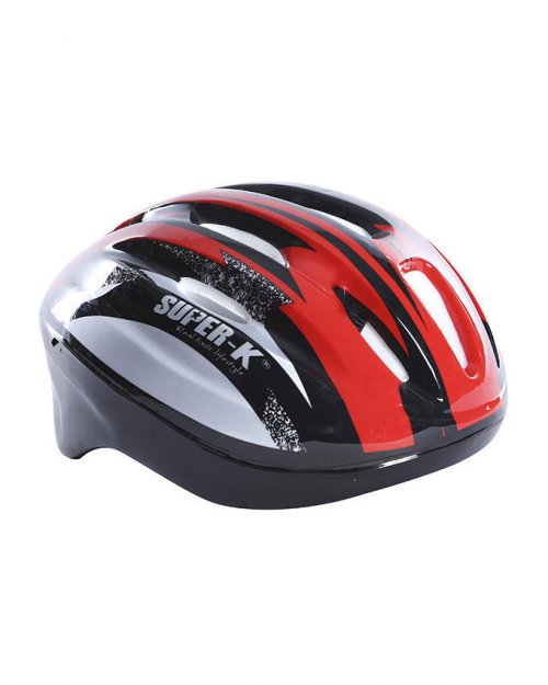 Super K Cycle Helmet - Red