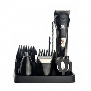 Kemei Rechargeable 7 In 1 Shaver & Trimmer Black