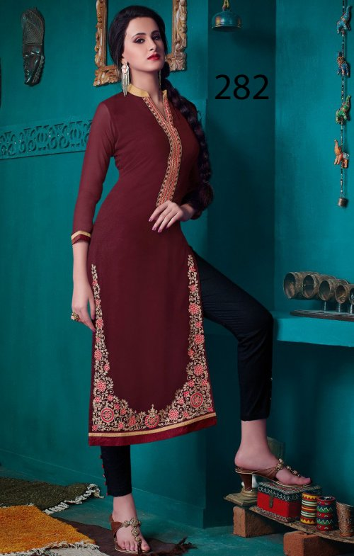 Latest Designers Kurti party wear ladies salwar suits 282