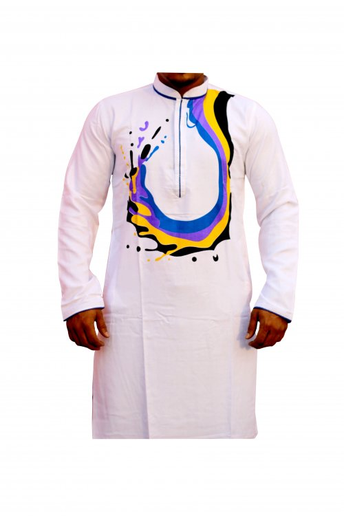 Boisakhi Cinigura Cotton Punjabi for man BASE_4