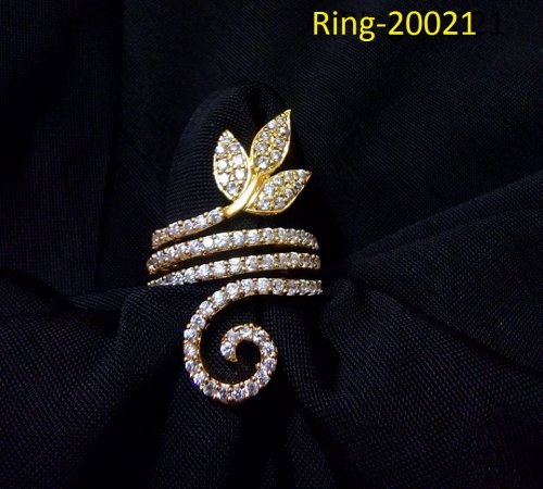 Gold Plated jewelry ornaments Diamond Cut Finger Ring Ring-20021