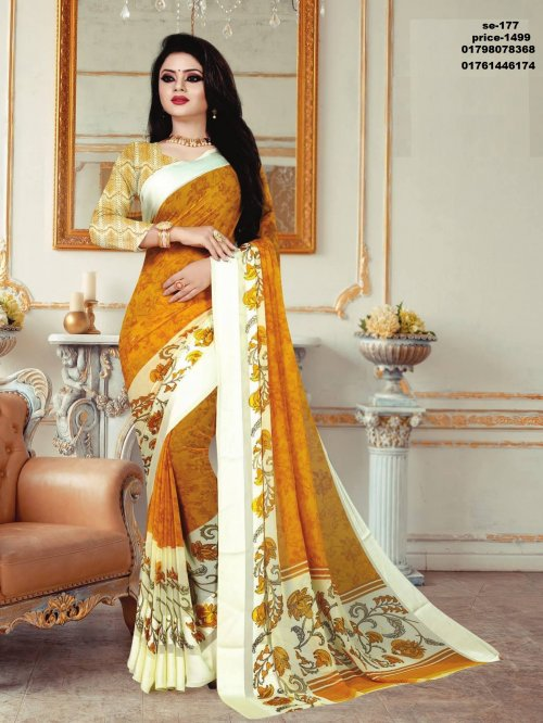 Indian Soft Georgette Saree se-177