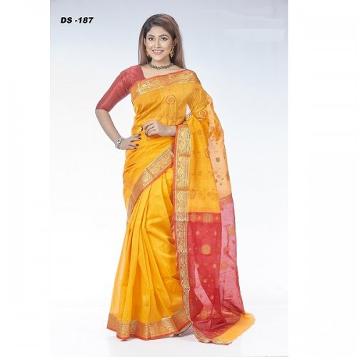 Half Silk Hand-Work saree DS-187