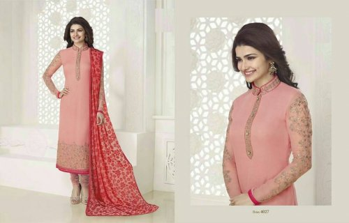 Georgette with embroidery P 4027R Replica