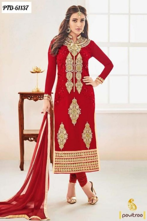 unstiched block printed cotton replica three pcs salwar kameez seblock-264