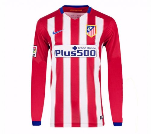 Atletico Madrid 16-17 Long Sleeve Home Soccer Jersey