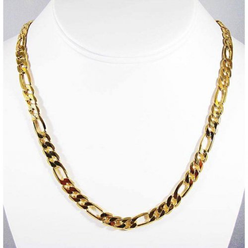 Gold Plated Men's Chain Necklace