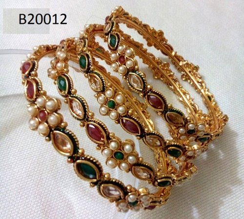 Gold Plated jewelry ornaments Bangles B-20012(4 pcs)